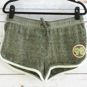 Derek Heart Olive Knit 70's Style Dolphin Shorts